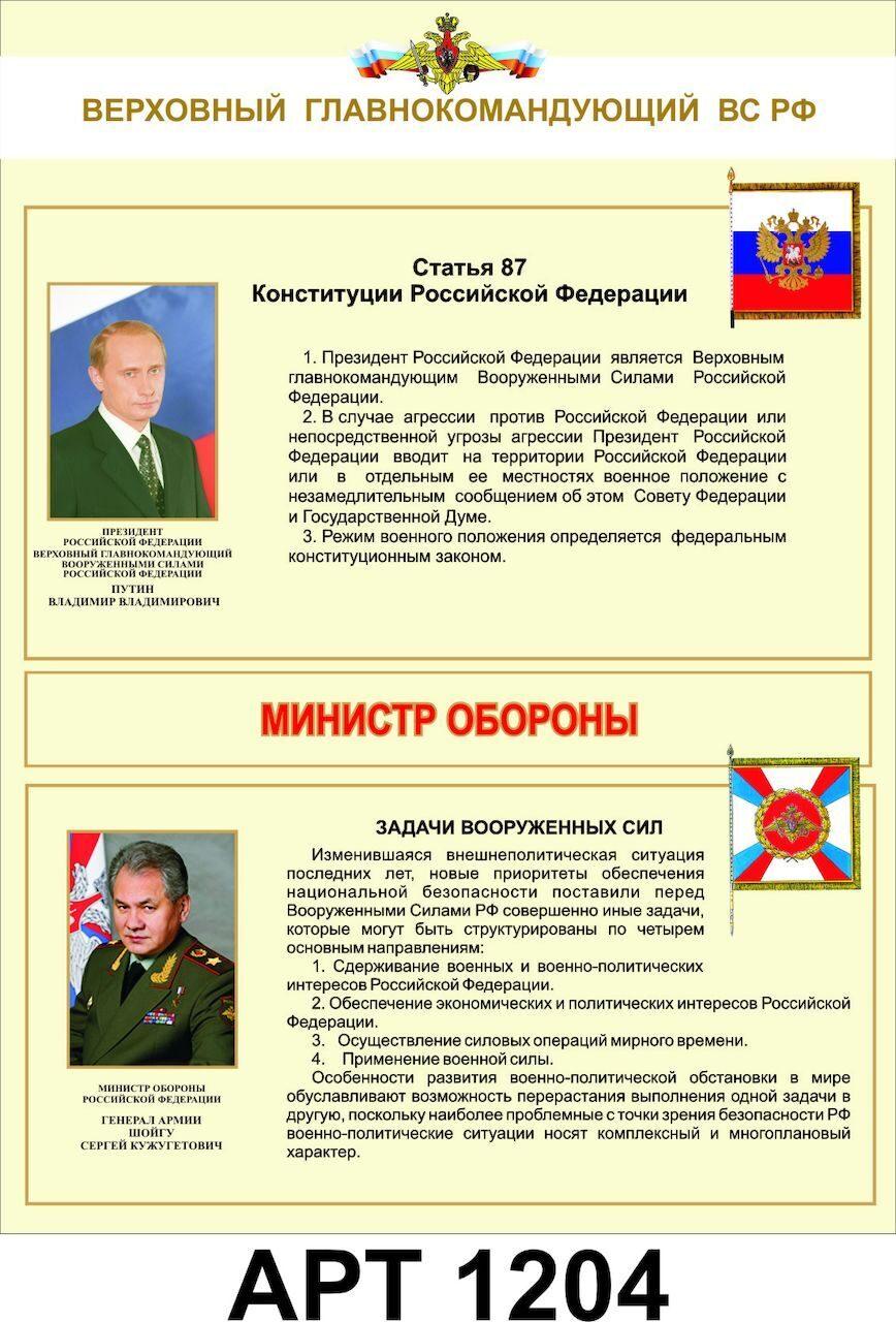Правовой статус министерства обороны рф