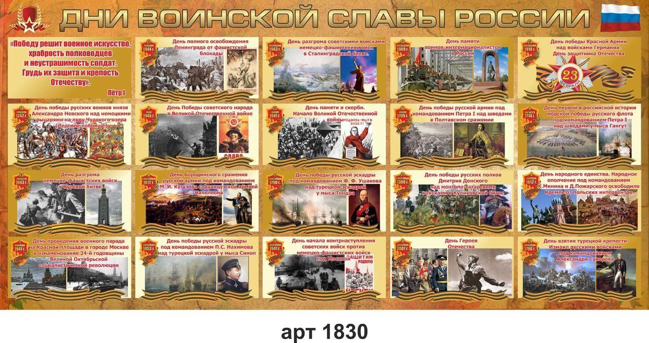 дни воинской славы картинки